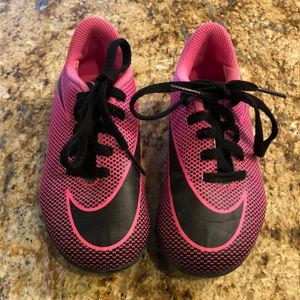 Nike Pink and Black Soccer Cleats